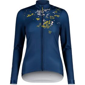 Maloja ToadstoolM. Langarm Fahrrad Trikot Damen blau